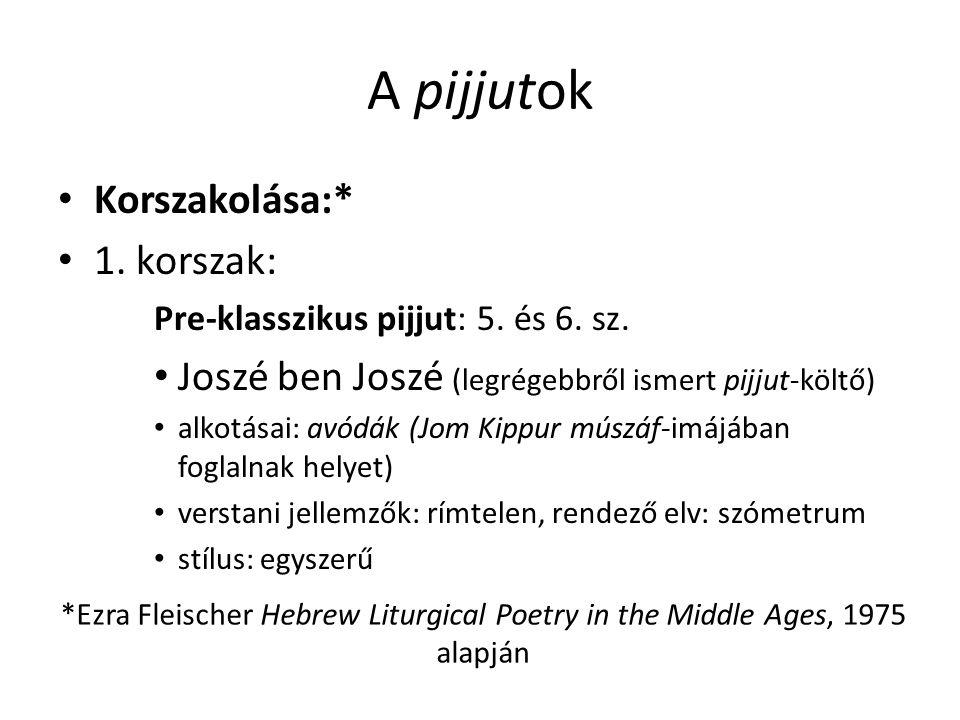 A pijjutok Korszakolása:* 1.korszak: Pre-klasszikus pijjut: 5.