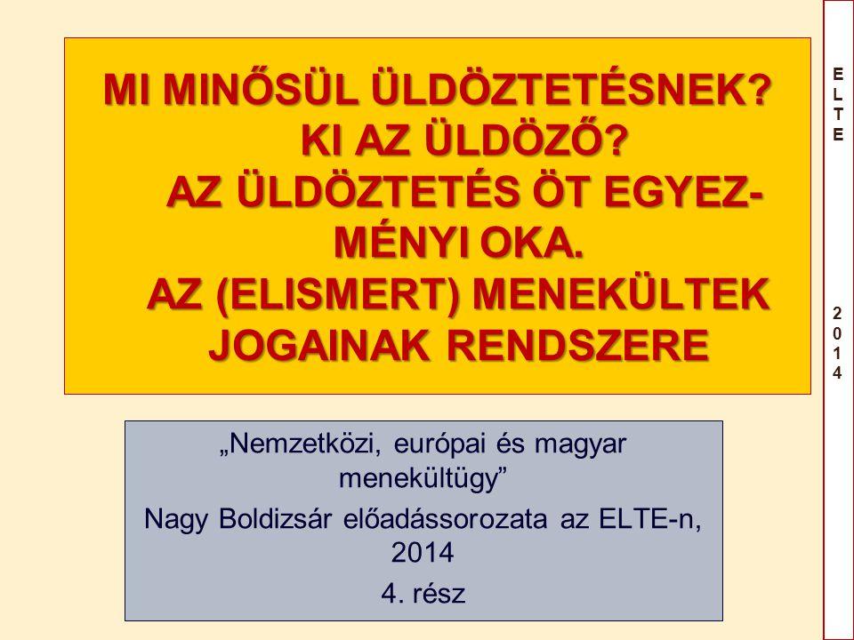 ELTE 2014ELTE 2014 Az előadás-sorozat témái 1.IX.17.