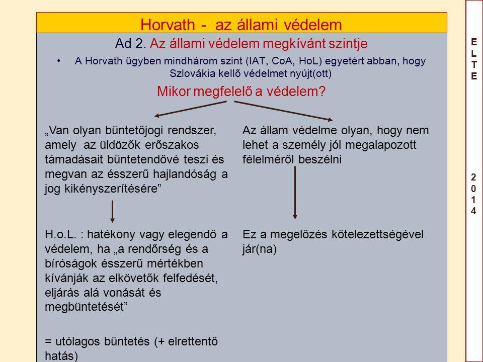 ELTE 2014ELTE 2014 Horvath - az állami védelem Ad 2.