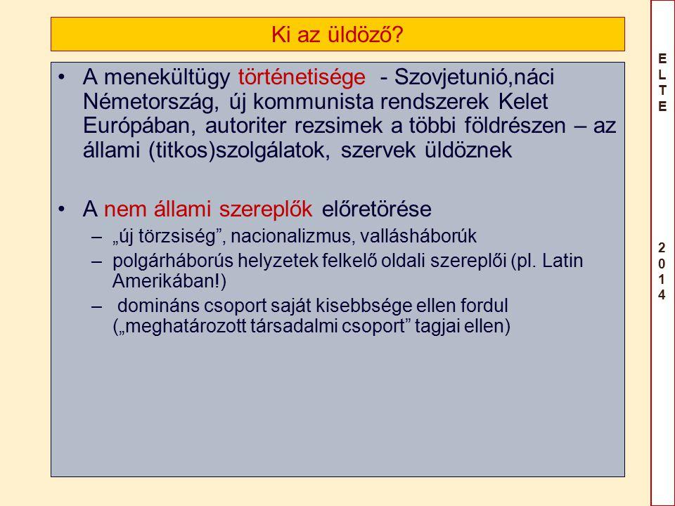 ELTE2014ELTE2014 Presentation by Boldizsár Nagy V ALLÁS – UNHCR G UIDELINES (I RÁNYELVEK ) 2004 51 Genf, Travaux préparatoires – nem kisérlik meg a meghatározását.