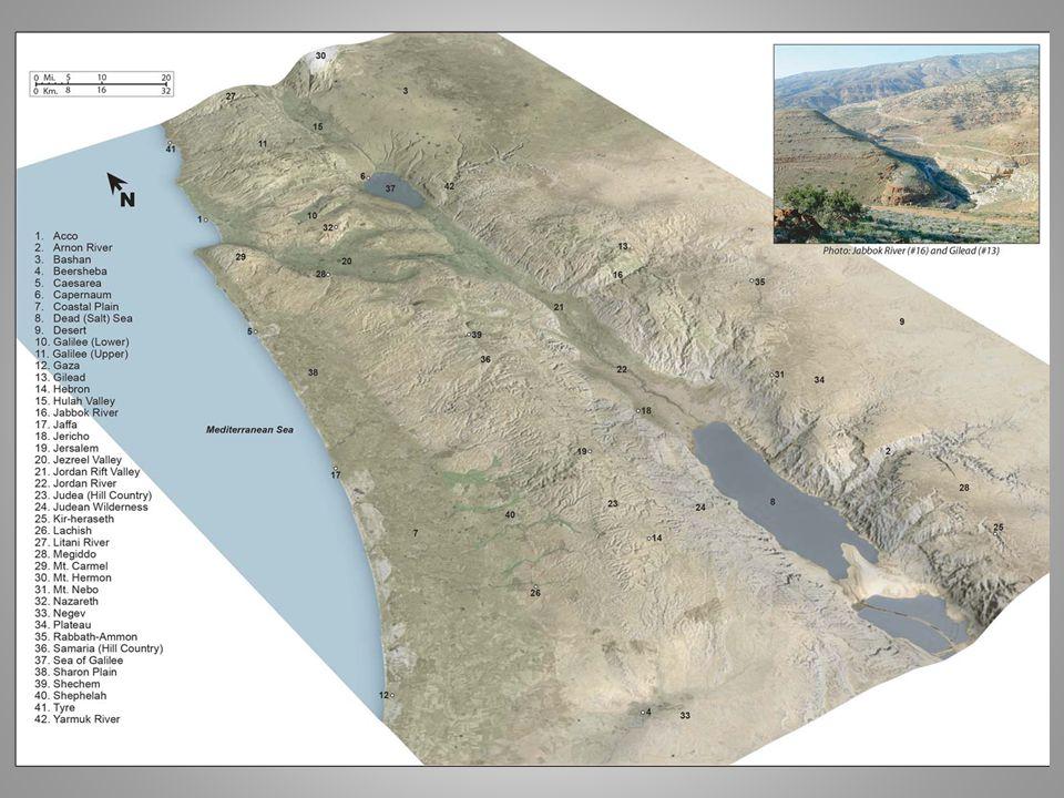 Palesztina földrajzi egységei (a Jordántól nyugatra) I.