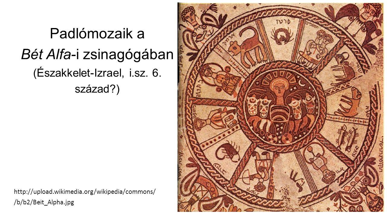 Padlómozaik a Bét Alfa-i zsinagógában (Északkelet-Izrael, i.sz.