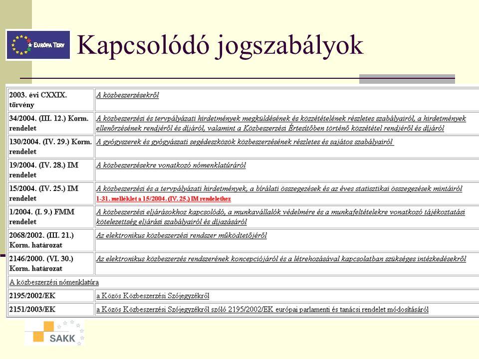 A törvény alkalmazása, hatálya Időbeli hatály: 2004.