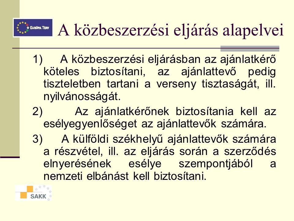 A törvény (Kbt.) célja az államháztartás kiadásainak ésszerűsítése a közpénzek felhasználása átláthatóságának és széles körű nyilvános ellenőrizhetőségének megteremtése a közbeszerzések során a verseny tisztaságának biztosítása
