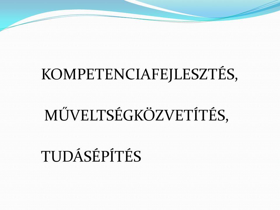 KOMPETENCIAFEJLESZTÉS, MŰVELTSÉGKÖZVETÍTÉS, TUDÁSÉPÍTÉS