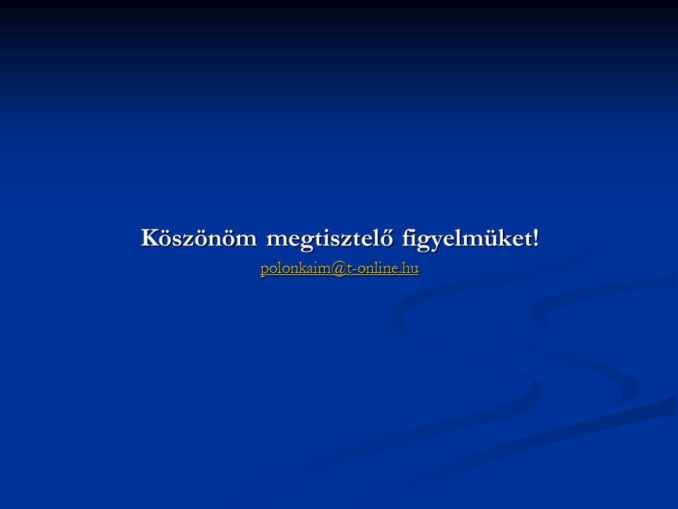 Köszönöm megtisztelő figyelmüket! polonkaim@t-online.hu