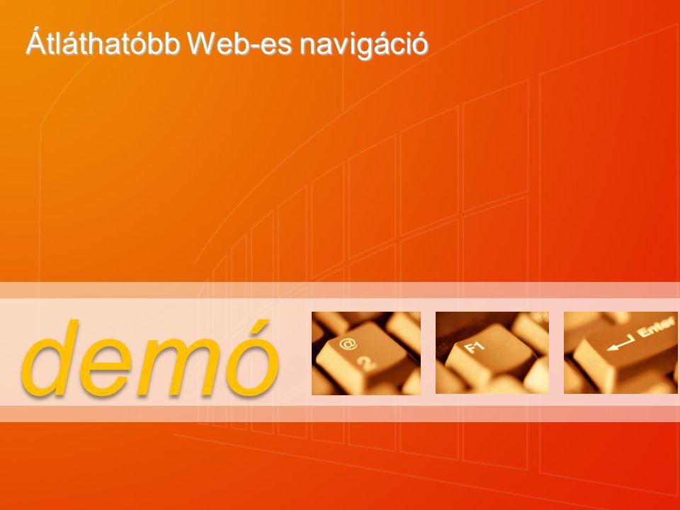 demó Átláthatóbb Web-es navigáció