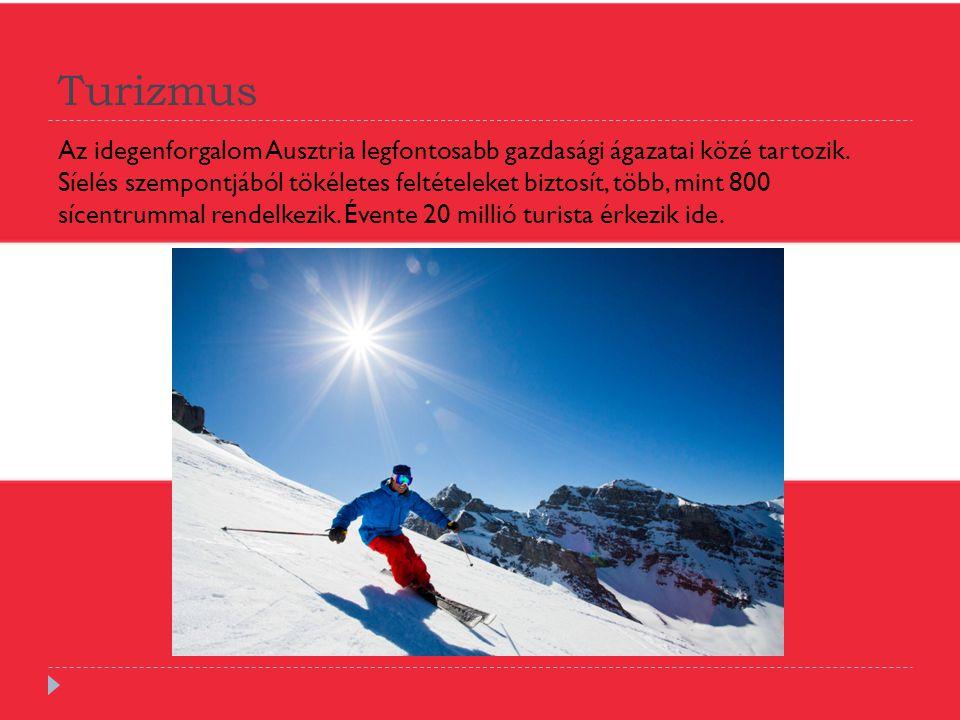 Turizmus Az idegenforgalom Ausztria legfontosabb gazdasági ágazatai közé tartozik. Síelés szempontjából tökéletes feltételeket biztosít, több, mint 80
