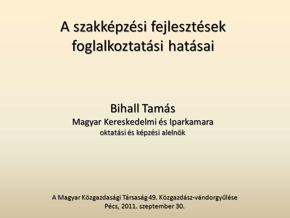 A szakképzési fejlesztések foglalkoztatási hatásai A Magyar Közgazdasági Társaság 49.
