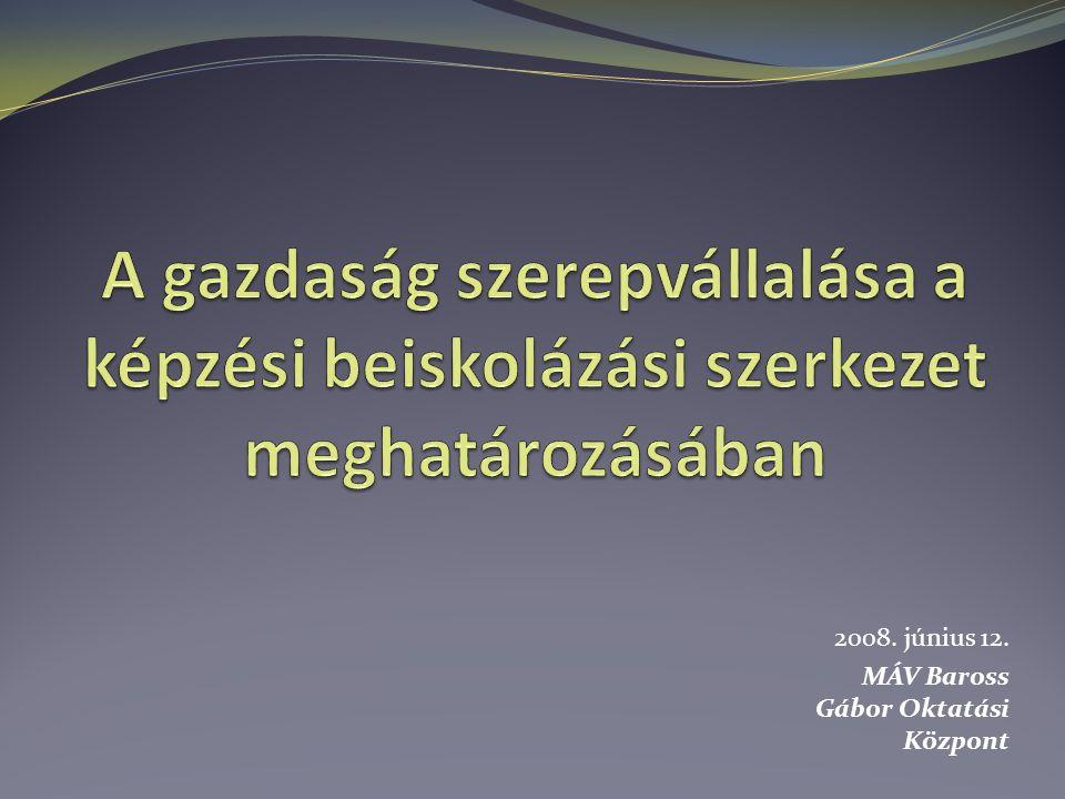 2008. június 12. MÁV Baross Gábor Oktatási Központ