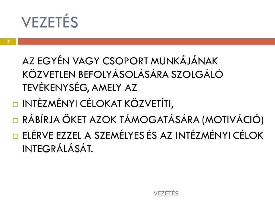 VEZETÉS 43 Ö SSZEFOGLALVA