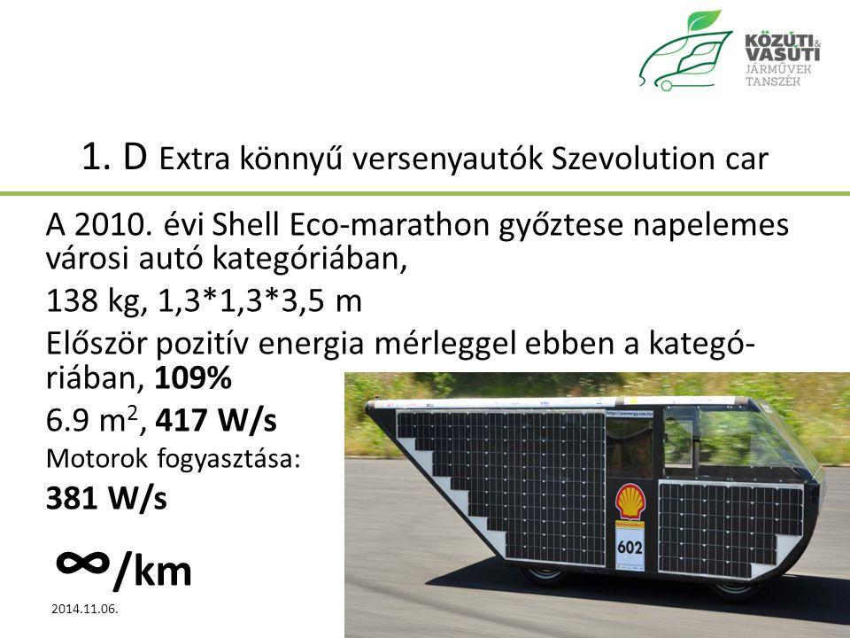 1.D Extra könnyű versenyautók Szevolution car A 2010.