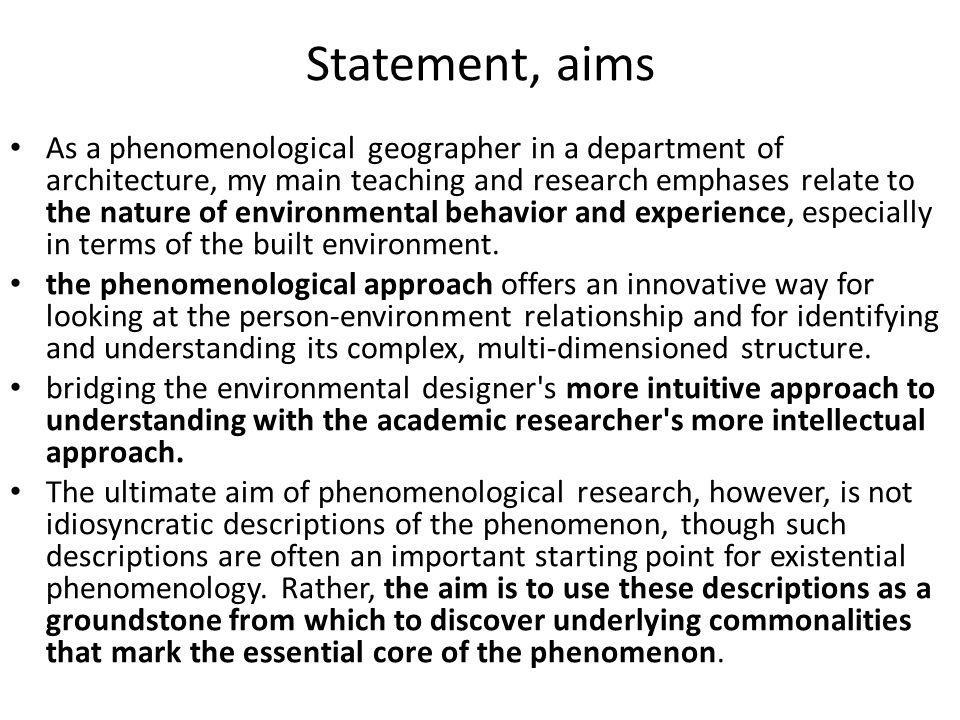 Definíció phenomenology is the interpretive study of human experience.