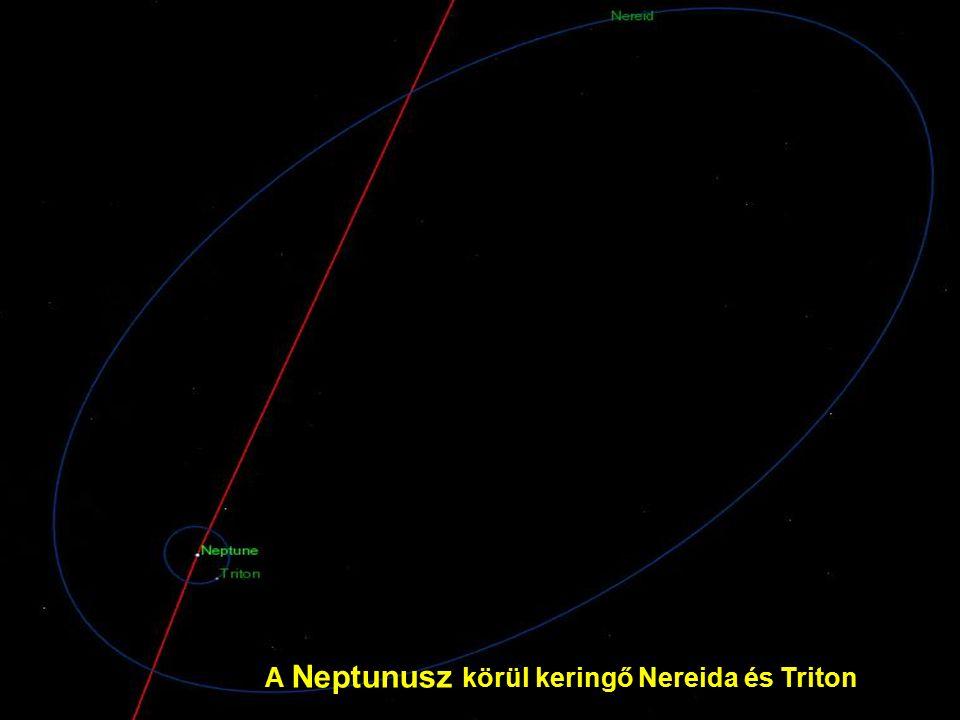 A Neptunusz körül keringő Nereida és Triton
