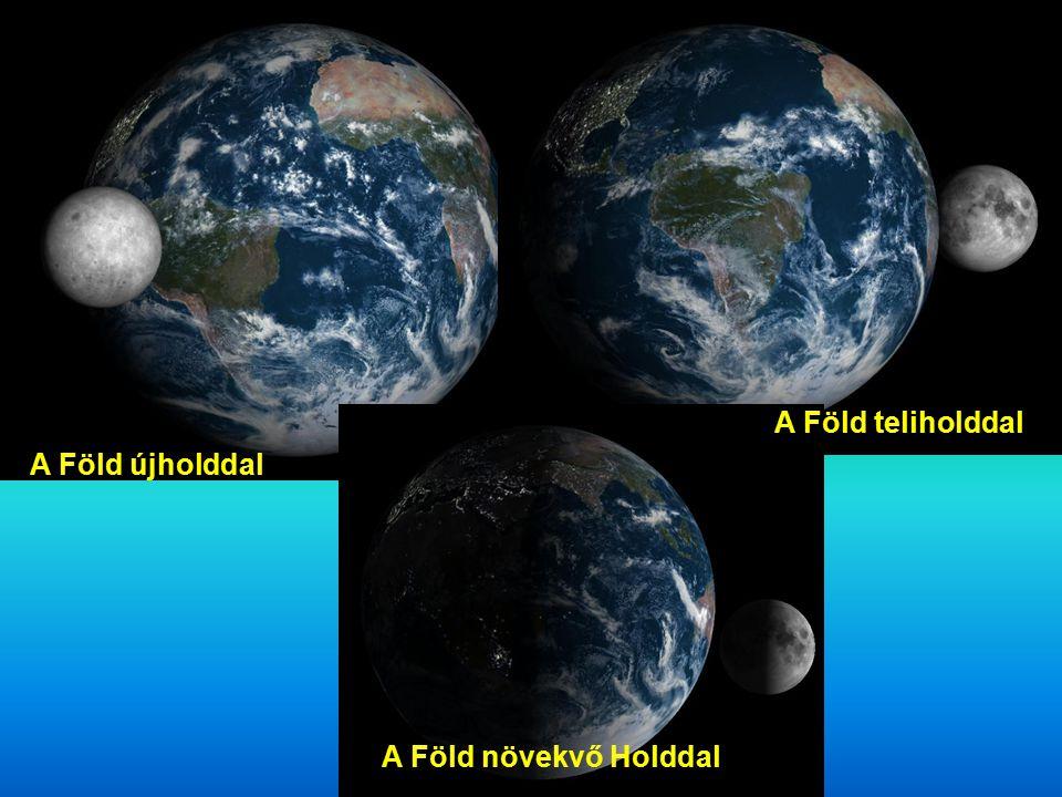 A Föld újholddal A Föld teliholddal A Föld növekvő Holddal