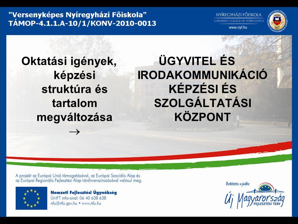 Európai kitekintés tanulás és használható, naprakész tudás  minőségi elvárások Lisszabon 2000, Koppenhága 2002  célkitűzések az oktatási és szakképzési rendszerek fejlesztésére  egységes európai oktatási térség létrehozása