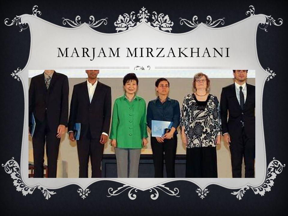 MARJAM MIRZAKHANI