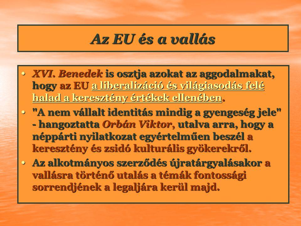 Az EU és a vallás XVI.
