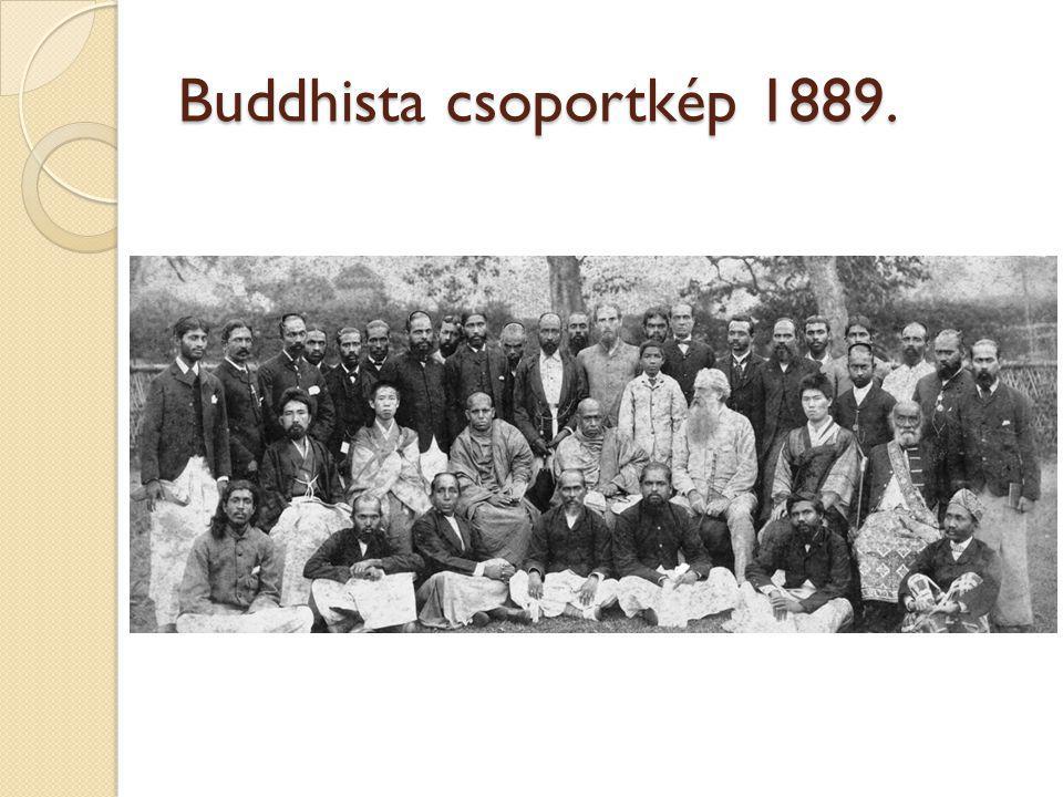 Buddhista csoportkép 1889.