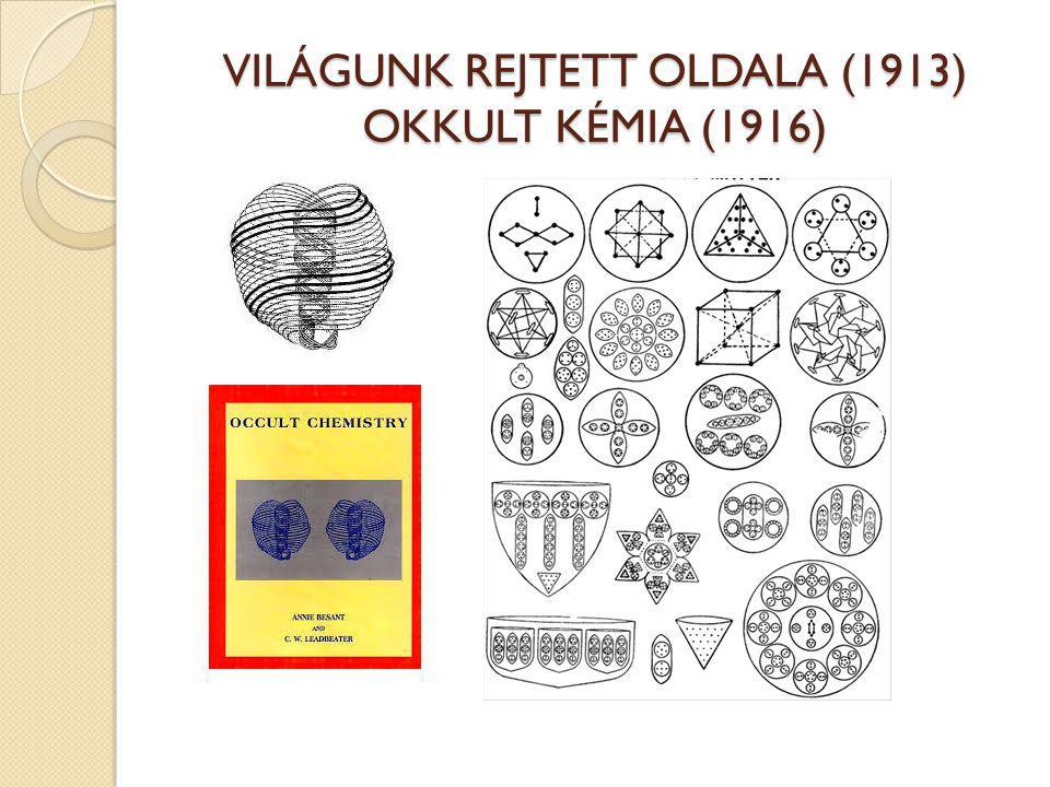 VILÁGUNK REJTETT OLDALA (1913) OKKULT KÉMIA (1916)
