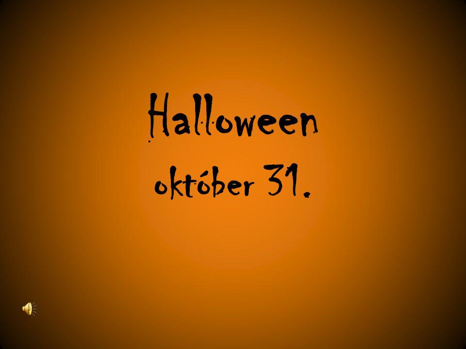 Halloween október 31.
