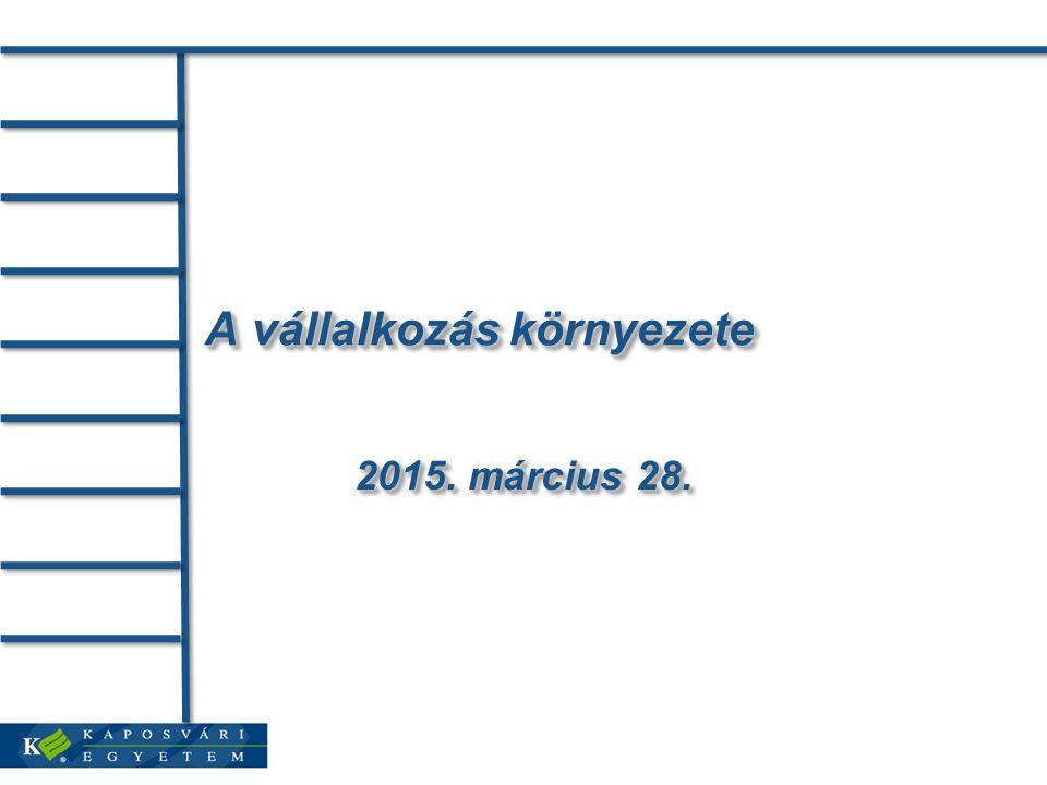 A vállalkozás környezete 2015. március 28.2015. március 28.2015. március 28.