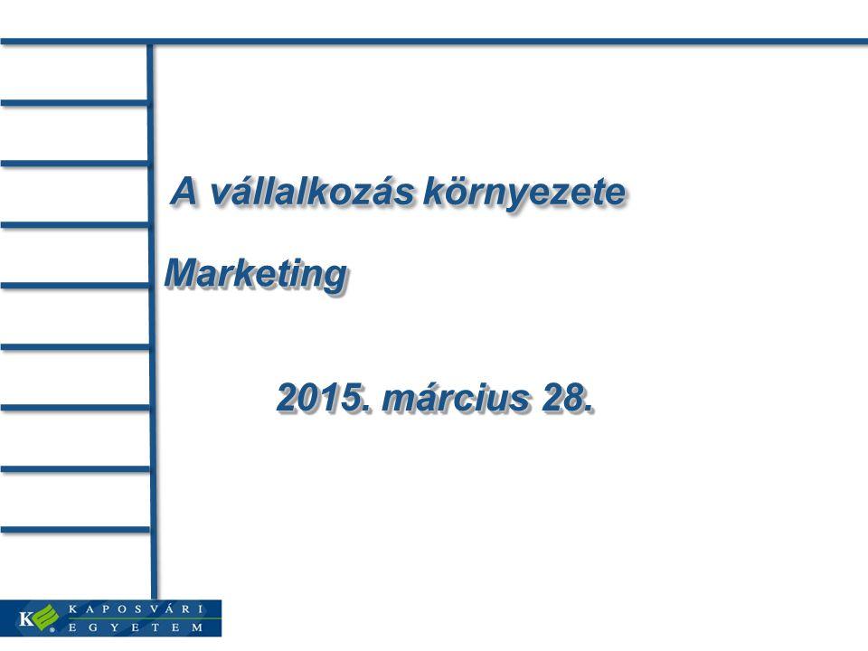 Marketingstratégia alapkérdései 3 alapvető stratégiai teendő: Kielégítendő fogyasztói szükséglet konkretizálása.