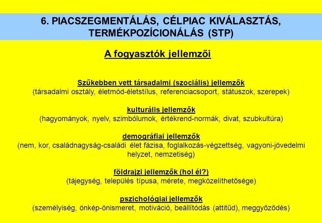 Szűkebben vett társadalmi (szociális) jellemzők (társadalmi osztály, életmód-életstílus, referenciacsoport, státuszok, szerepek) kulturális jellemzők