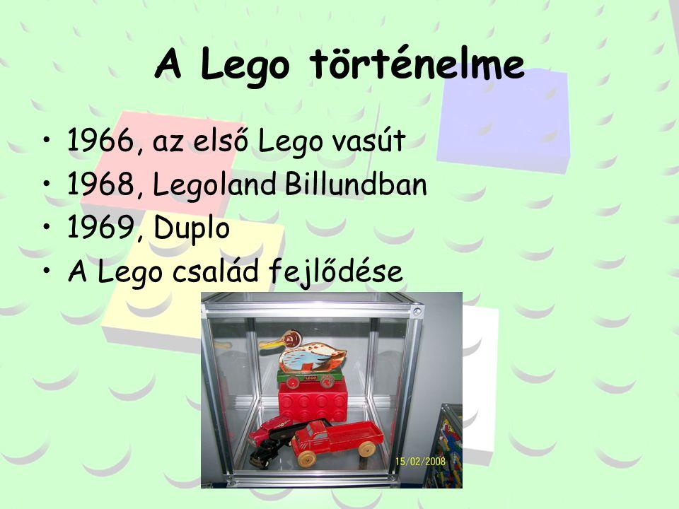 A Lego történelme 1966, az első Lego vasút 1968, Legoland Billundban 1969, Duplo A Lego család fejlődése