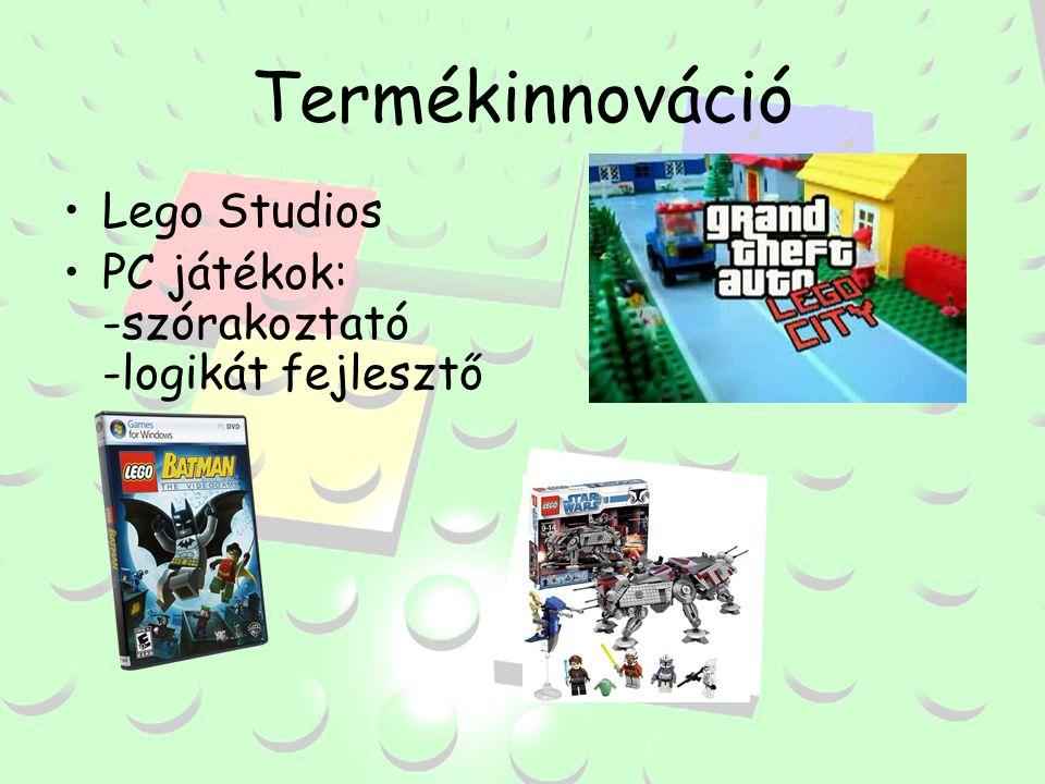Termékinnováció Lego Studios PC játékok: -szórakoztató -logikát fejlesztő