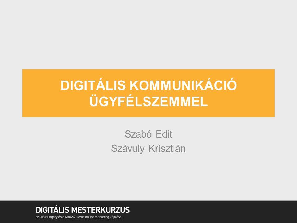 DIGITÁLIS KOMMUNIKÁCIÓ ÜGYFÉLSZEMMEL Szabó Edit Szávuly Krisztián