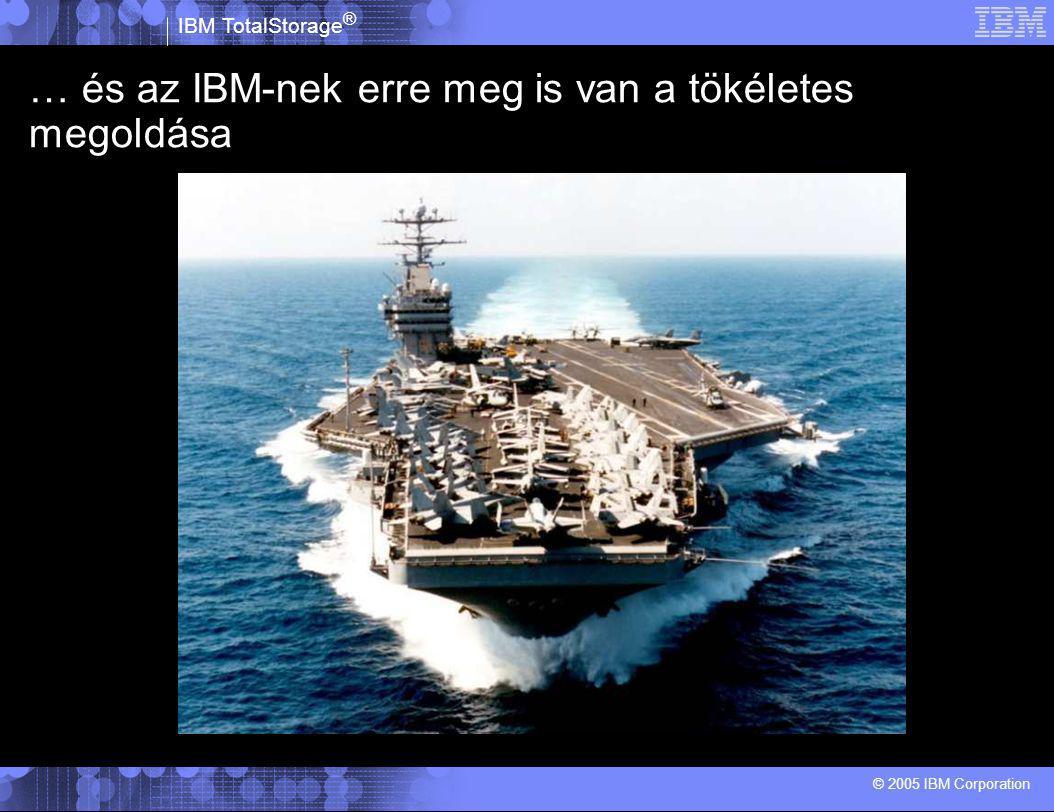 IBM TotalStorage ® © 2005 IBM Corporation …de az express portfóliót pont az ilyen kisvállalati igényekre fejlesztették ki!