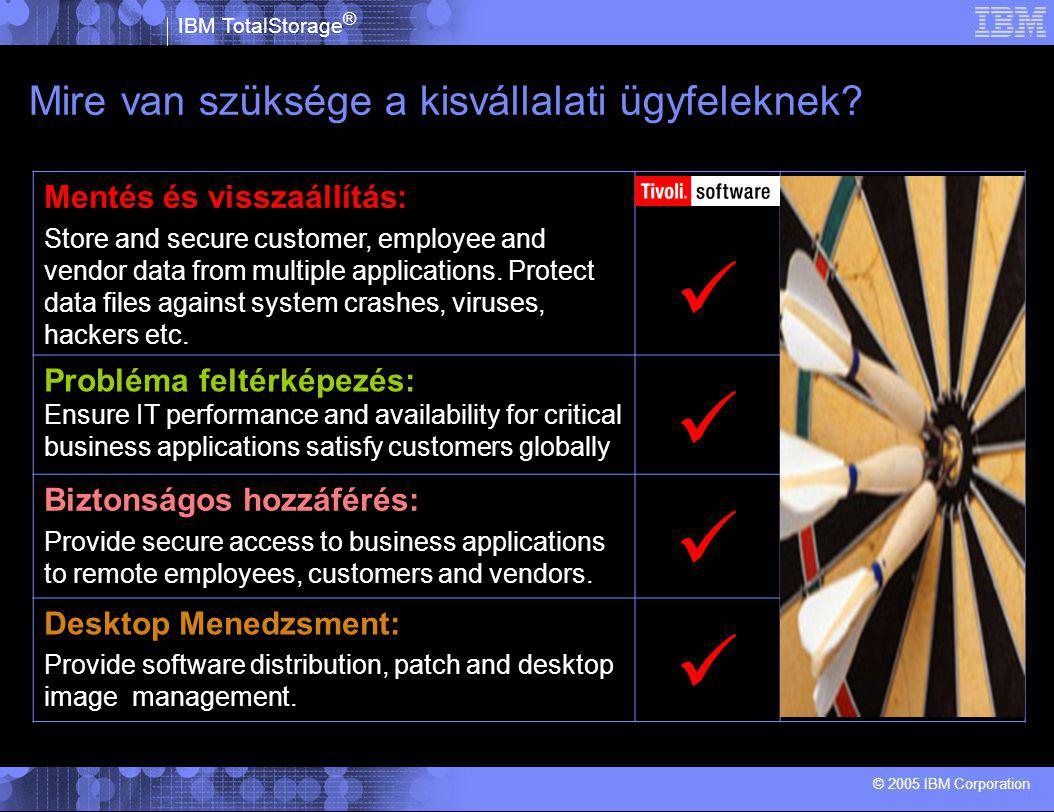 IBM TotalStorage ® © 2005 IBM Corporation Easy to Configure.