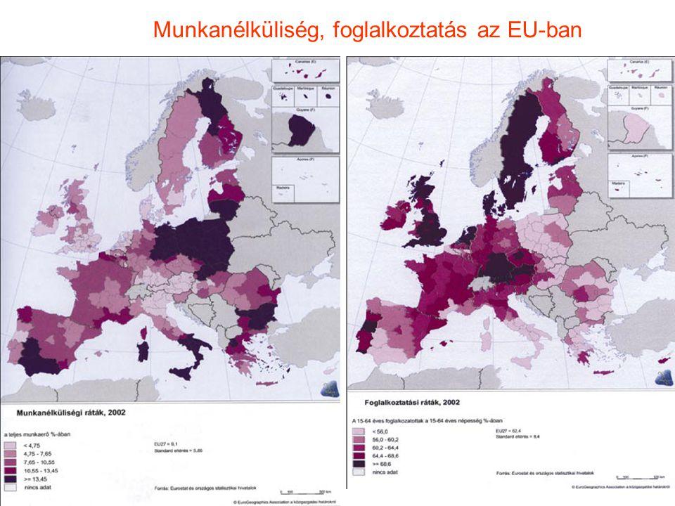 Munkanélküliség, foglalkoztatás az EU-ban