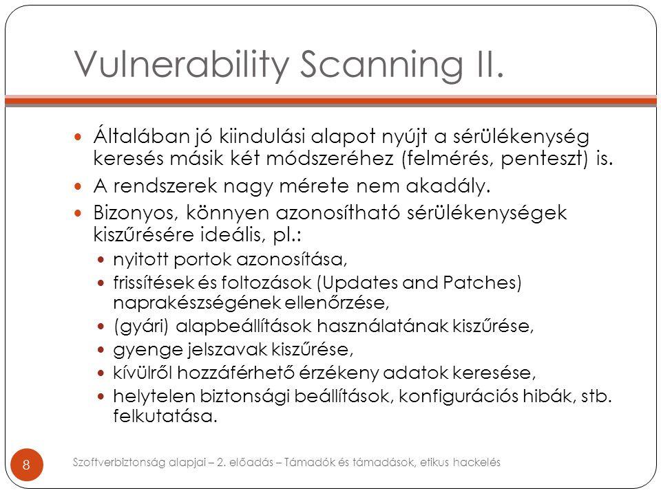Vulnerability Scanning II.