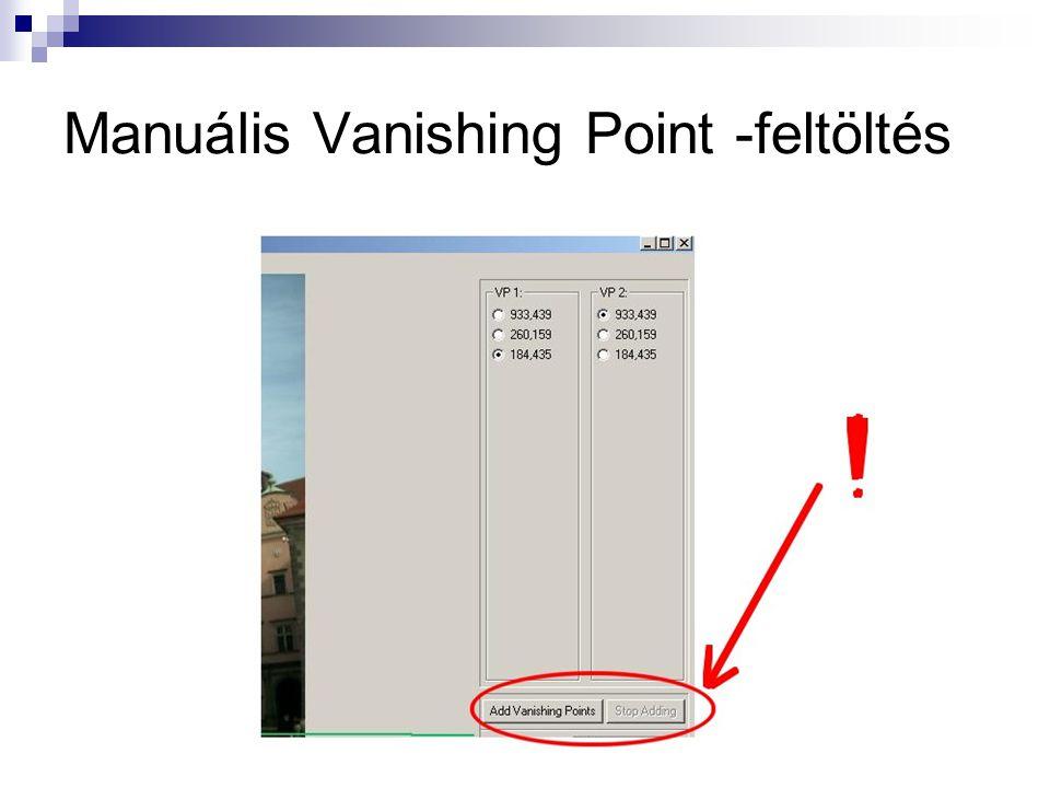 Manuális Vanishing Point -feltöltés