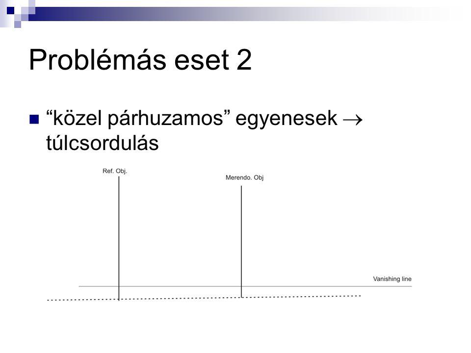 Problémás eset 2 közel párhuzamos egyenesek  túlcsordulás