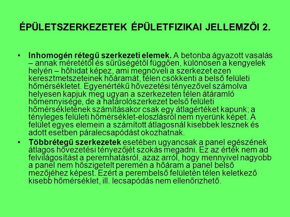 ÉPÜLETSZERKEZETEK ÉPÜLETFIZIKAI JELLEMZŐI 3.