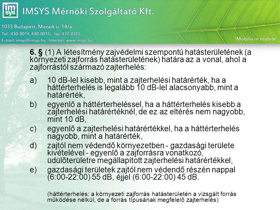 27/2008.(XII. 3.) KvVM-EüM együttes rendelet A zajterhelési határértékeket az 1-3.
