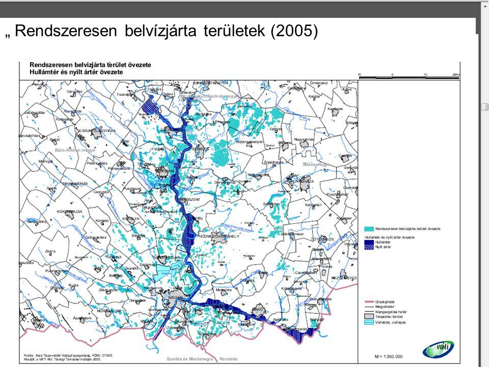 Pálfai I. (2004) Rendszeresen belvízjárta területek (2011)