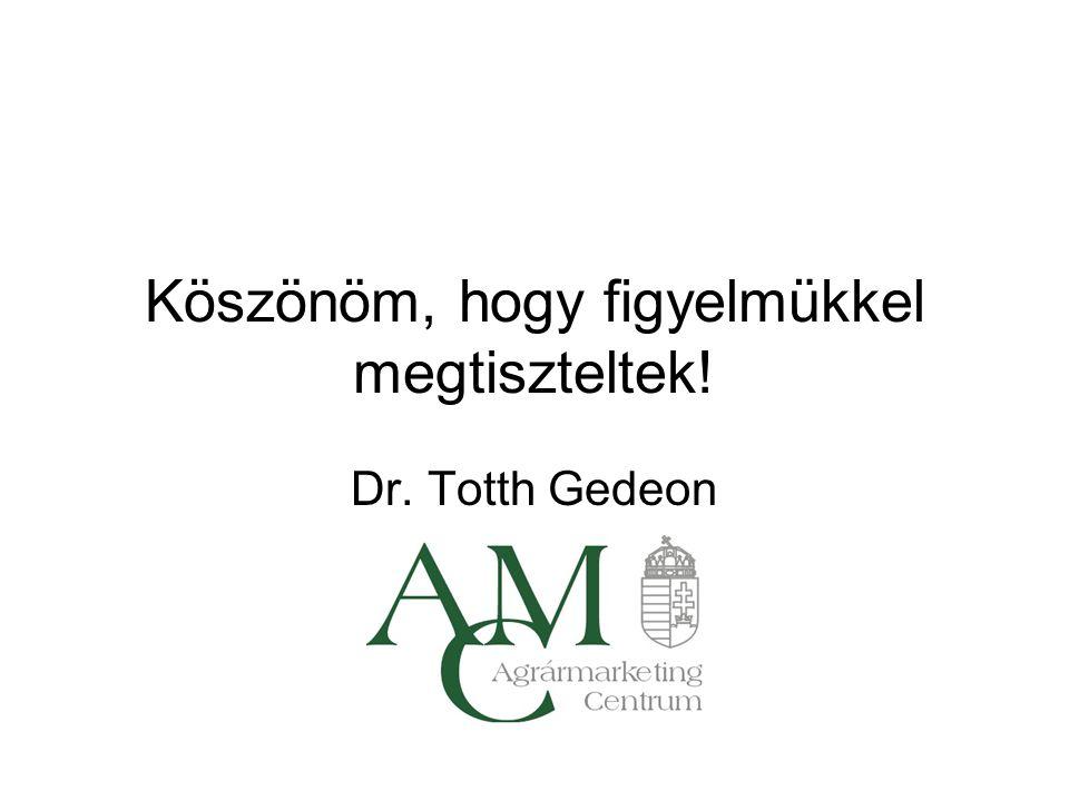 Köszönöm, hogy figyelmükkel megtiszteltek! Dr. Totth Gedeon AMC