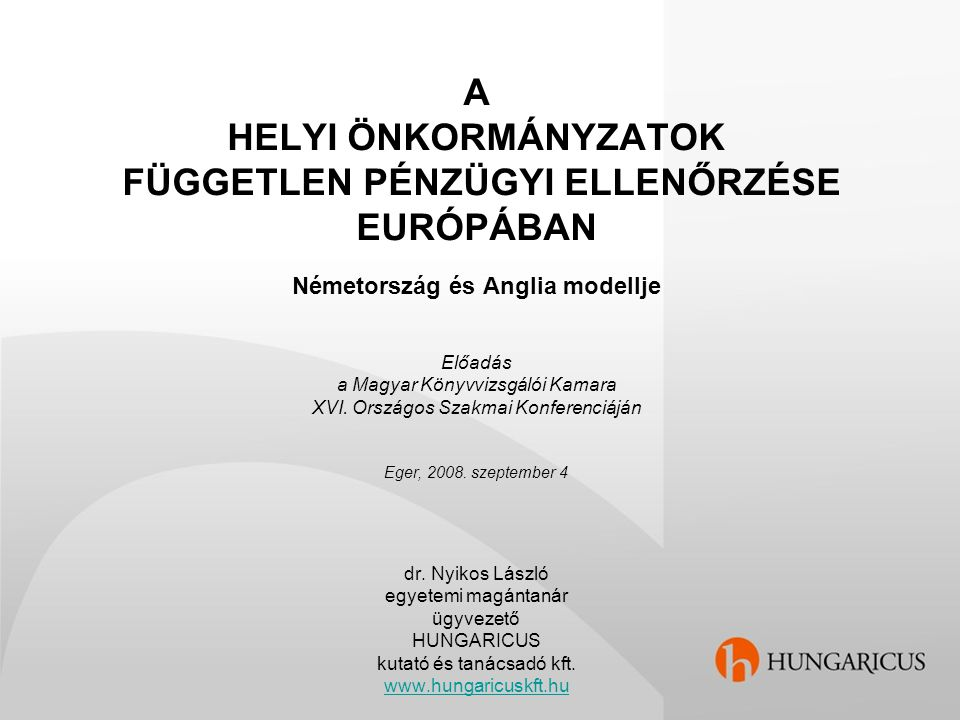 """A probléma társadalmi jelentősége Magyarországon Az elszámoltatási kultúra fejlesztése Az állami és az önkormányzati feladatok elhatárolása Önkormányzatiság versus állami függés """"Átpolitizálódottság Finanszírozási gondok Pénzügyi stabilitás versus hosszabb távú gazdálkodás Kistelepülések: két """"ellenőrző szék között, pad alatt Független, megbízható, nyilvános információk Vácuum a külső pénzügyi ellenőrzésben Ellenőrzési ráfordítások versus társadalmi haszon"""