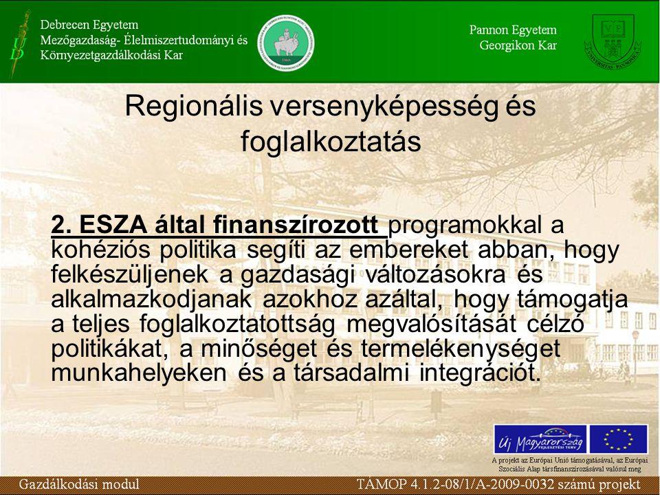 Regionális versenyképesség és foglalkoztatás 2.