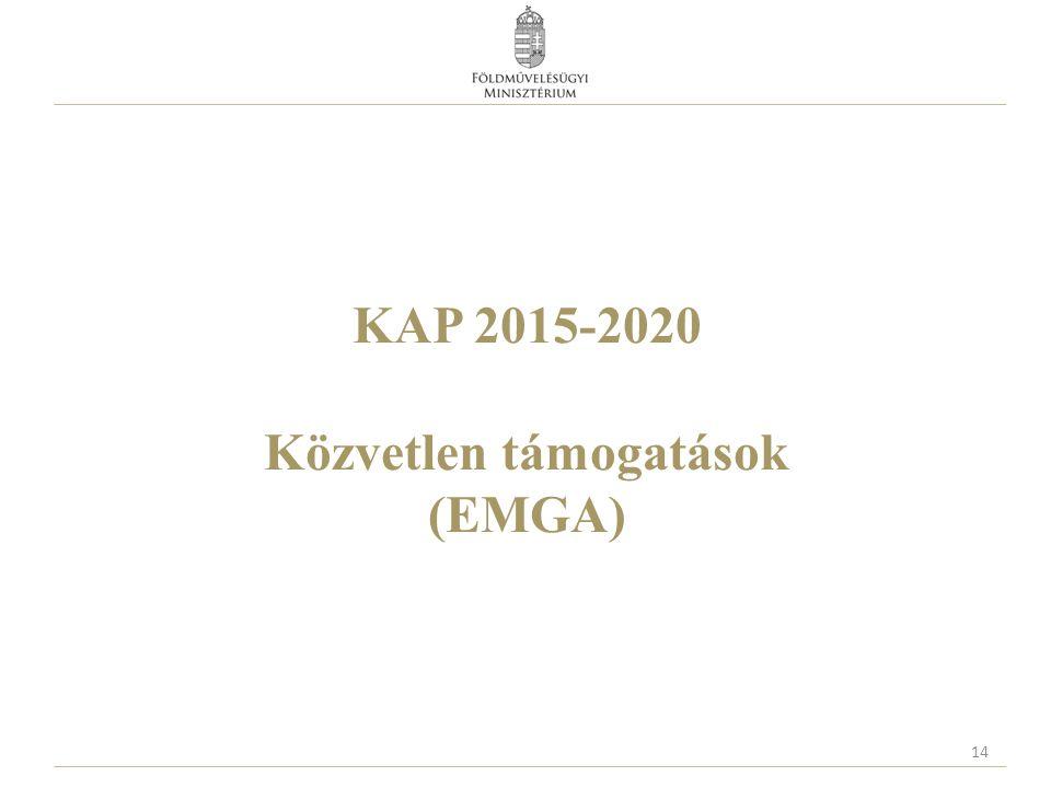 KAP 2015-2020 Közvetlen támogatások (EMGA) 14