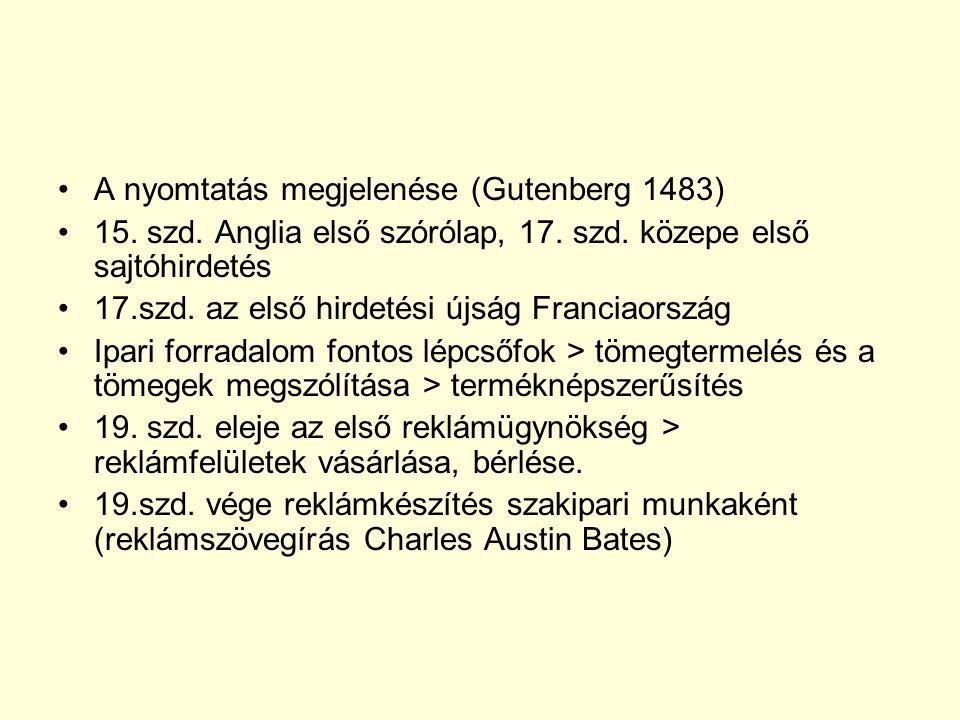 A nyomtatás megjelenése (Gutenberg 1483) 15.szd. Anglia első szórólap, 17.