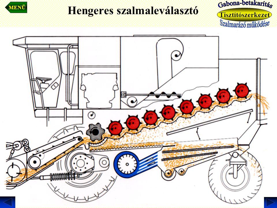 Hengeres szalmaleválasztó MENÜ Tisztítószerkezet