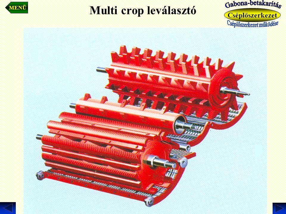 Multi crop leválasztó MENÜ Cséplőszerkezet