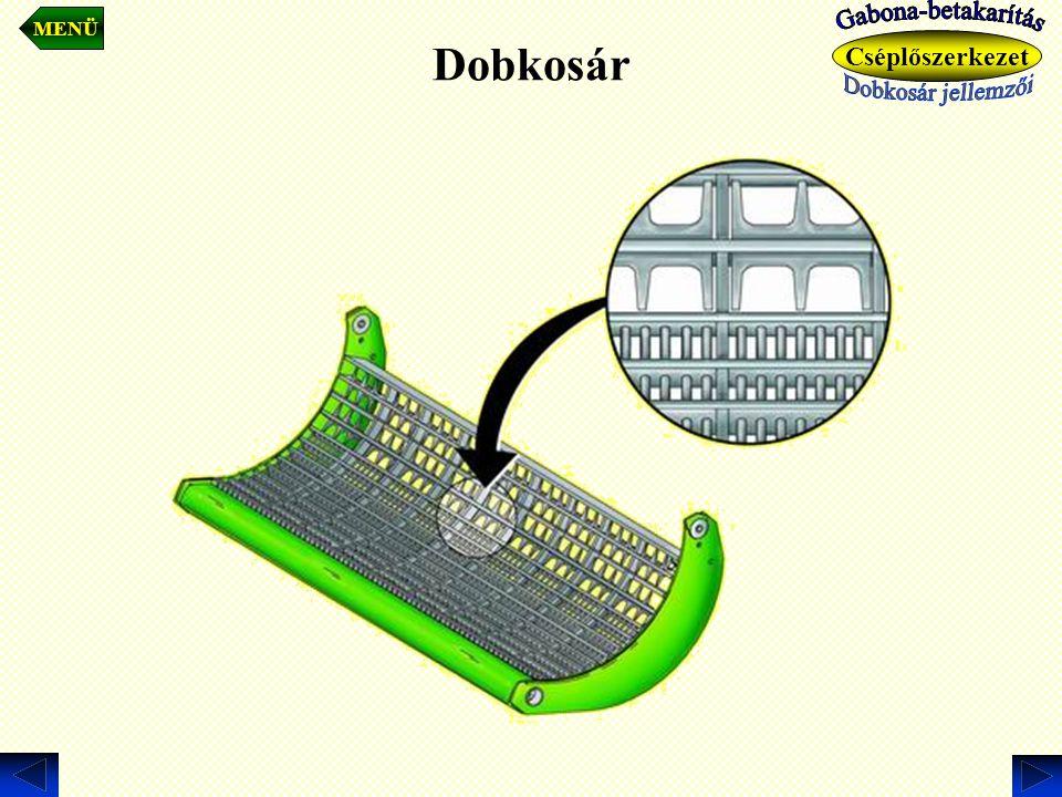 Dobkosár. MENÜ Cséplőszerkezet