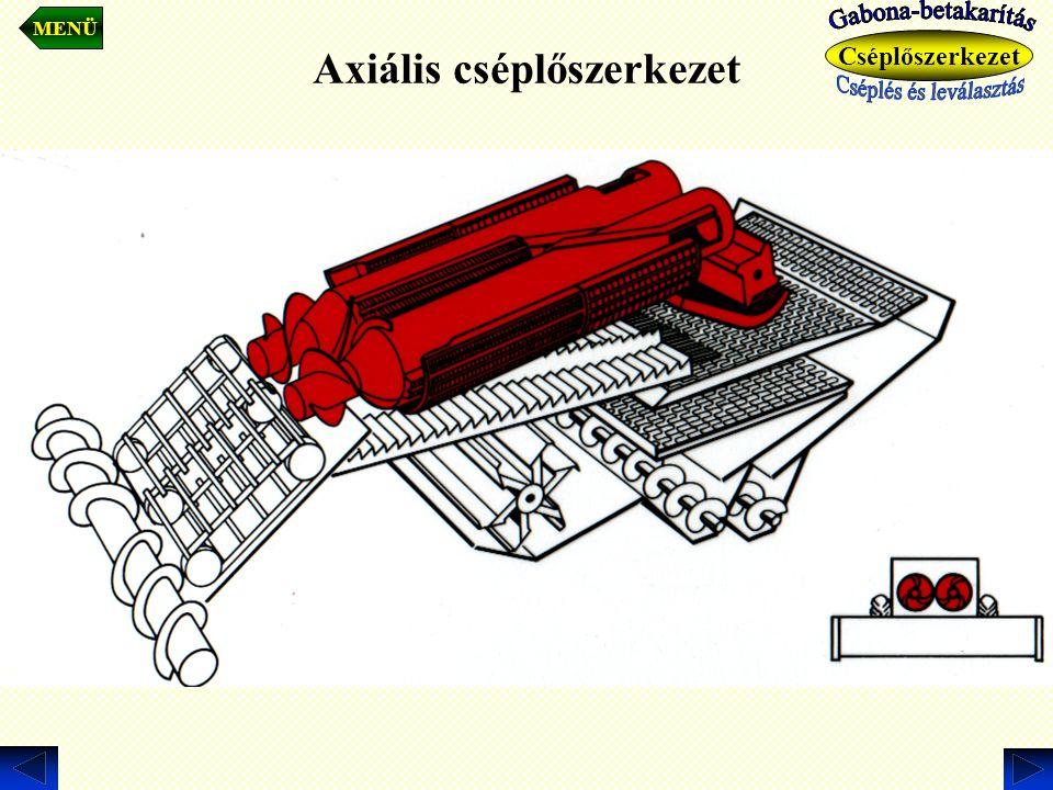Cséplőszerkezet Axiális cséplőszerkezet MENÜ