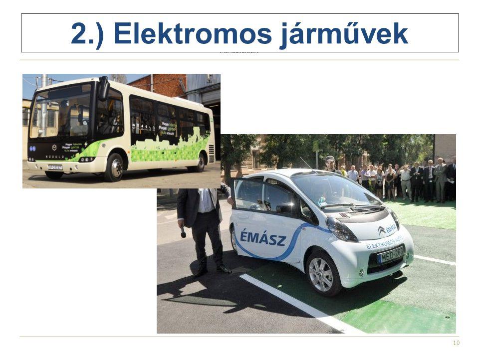 10 2.) Elektromos járművek